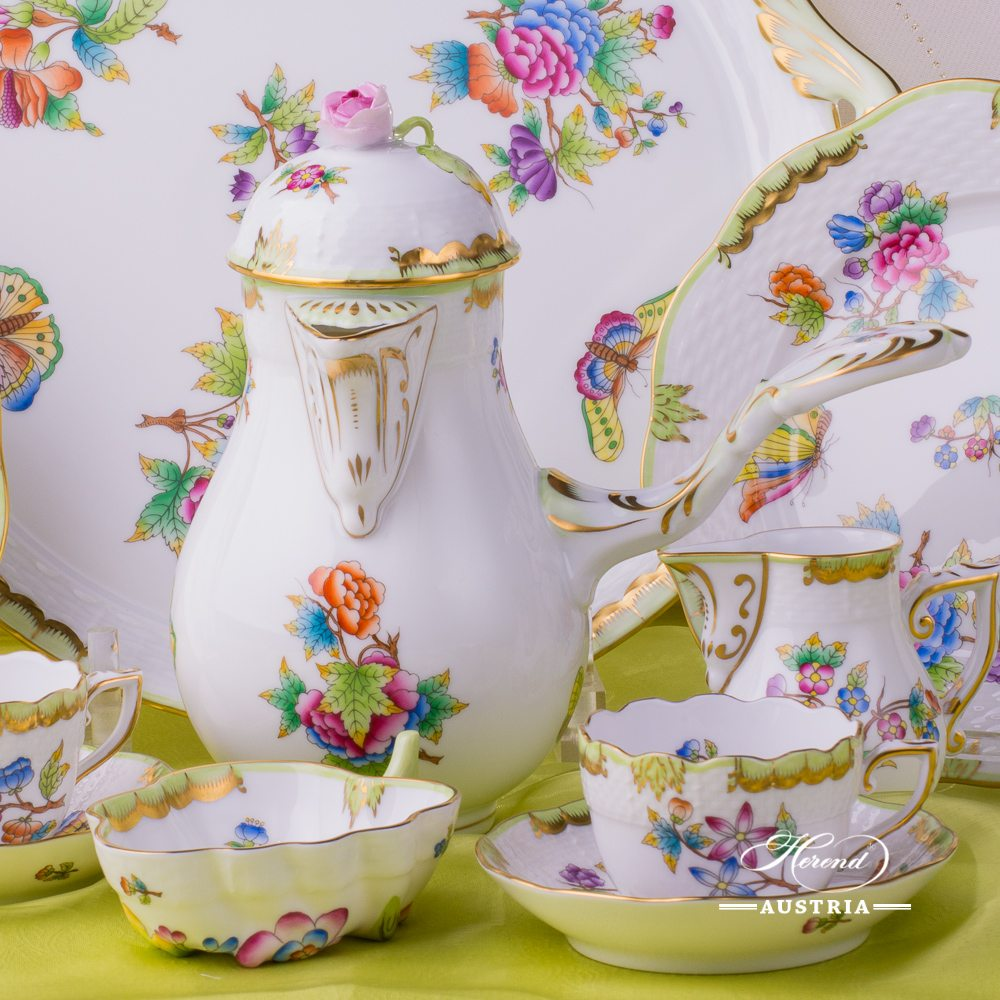 Queen Victoria - VBO Coffee-Set for 2 Persons - Herend Porcelain