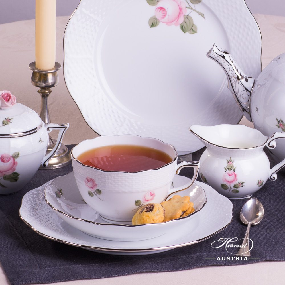 Vienna Rose Platinum - Tea-Set for 2 Persons