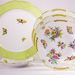 Place Setting 5 Pieces- Herend Queen Victoria VBO design. Herend porcelainhand painted. Tableware