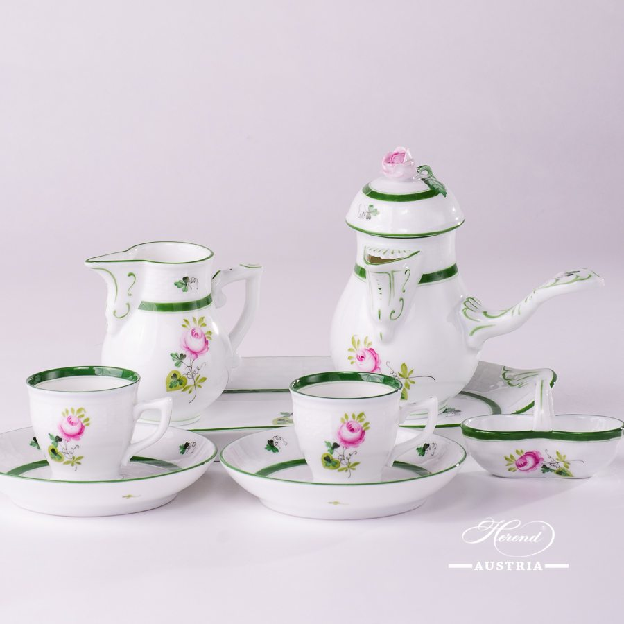 Vienna Rose-VRH Coffee-Set for 2 Persons - Herend Porcelain