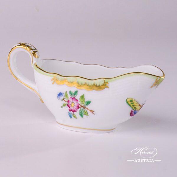 Sauce Boat 219-0-00 VBA Queen Victoria design. Herend porcelainhand painted. Tableware