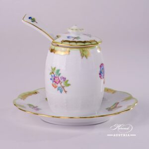 Victoria-242-7-15-VBO-Mustard-Pot-with-Lid-and-Spoon-Herend-Porcelain-17