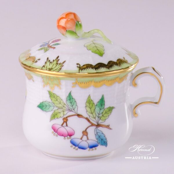 Cream Cup with Bud Knob 385-0-12 VBA Queen Victoria design. Herend porcelainhand painted. Tableware