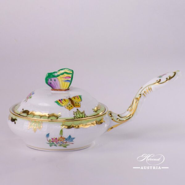 Patty Pan with Butterfly Knob 388-0-17 VBA Queen Victoria design. Herend porcelainhand painted. Tableware