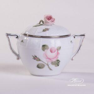 Vienna Rose Grande Platinum 472-0-09 VGR-PT Sugar Basin Herend porcelain