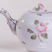 Vienna Rose Grande Platinum 605-0-09 VGR-PT Tea Pot Herend porcelain