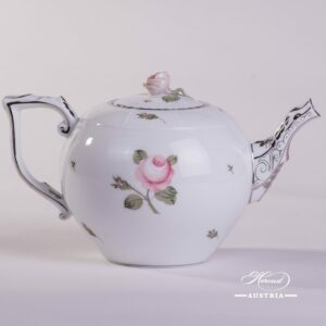 Vienna Rose Grande Platinum 605-0-09 VGR-PT Tea Pot Herend porcelain