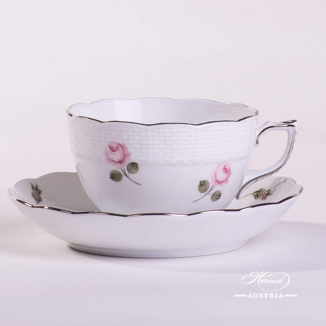 Vienna Rose Platinum - Tea Cup