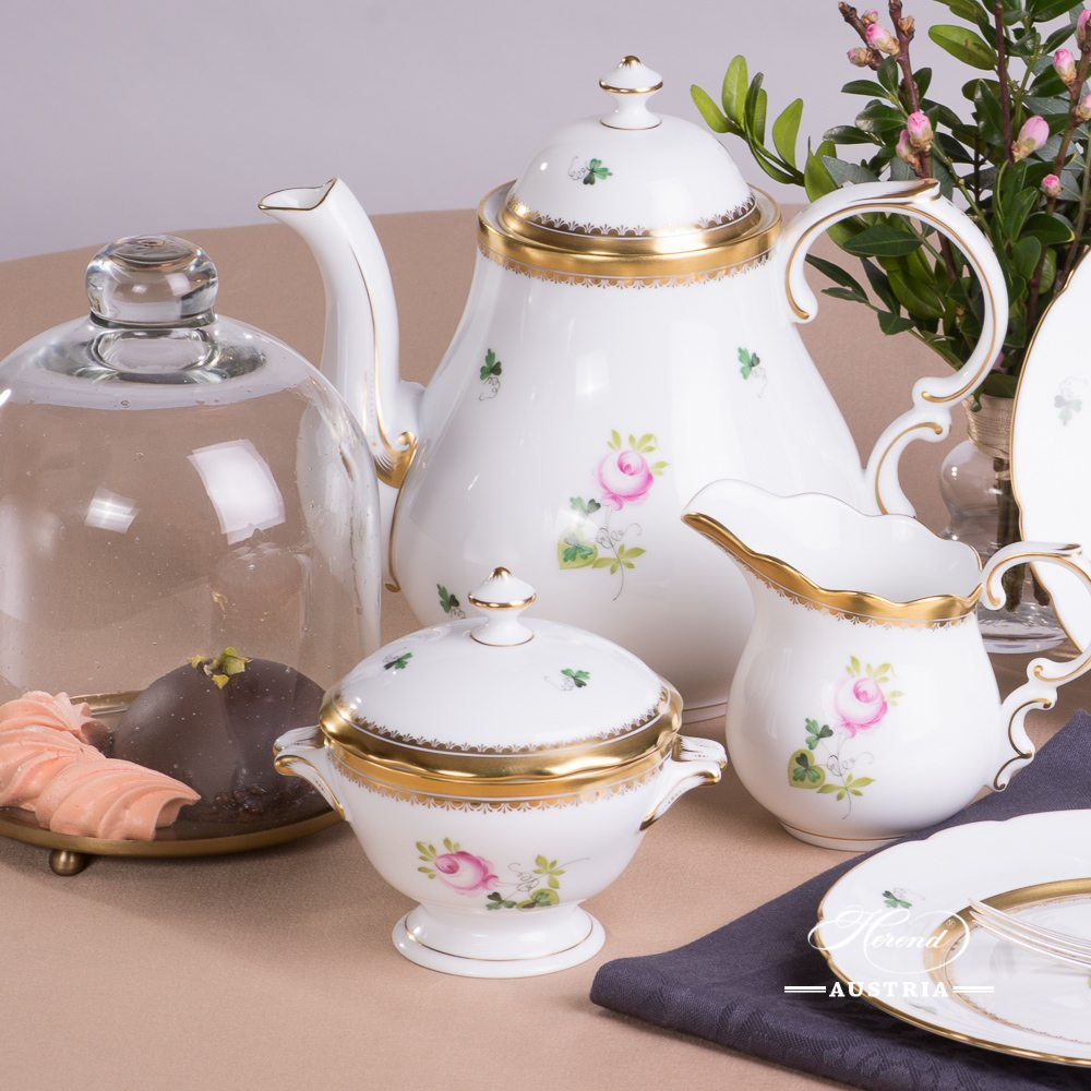 Vienna Rose-Special Tea-Set for 2 Persons - VRH-OR-X1- Herend Porcelain