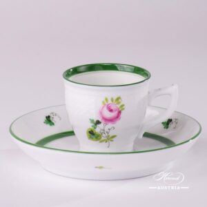 Herend porcelain painted with Vienna Rose or Habsburg Rose motif