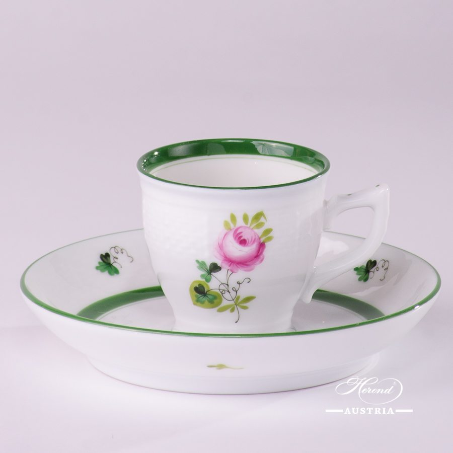 Vienna Rose-VRH Coffee Cup and Saucer - 729-0-00 VRH - Herend Porcelain