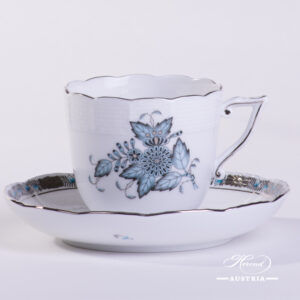 Chinese Bouquet Turquoise / Apponyi ATQ3-PT - Coffee Cup