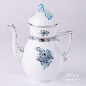 Chinese Bouquet Turquoise / Apponyi ATQ3-PT - Coffee / Espresso Pot