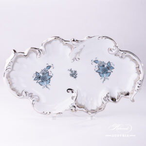 Chinese Bouquet Turquoise / Apponyi ATQ3-PT - Dish Rococo