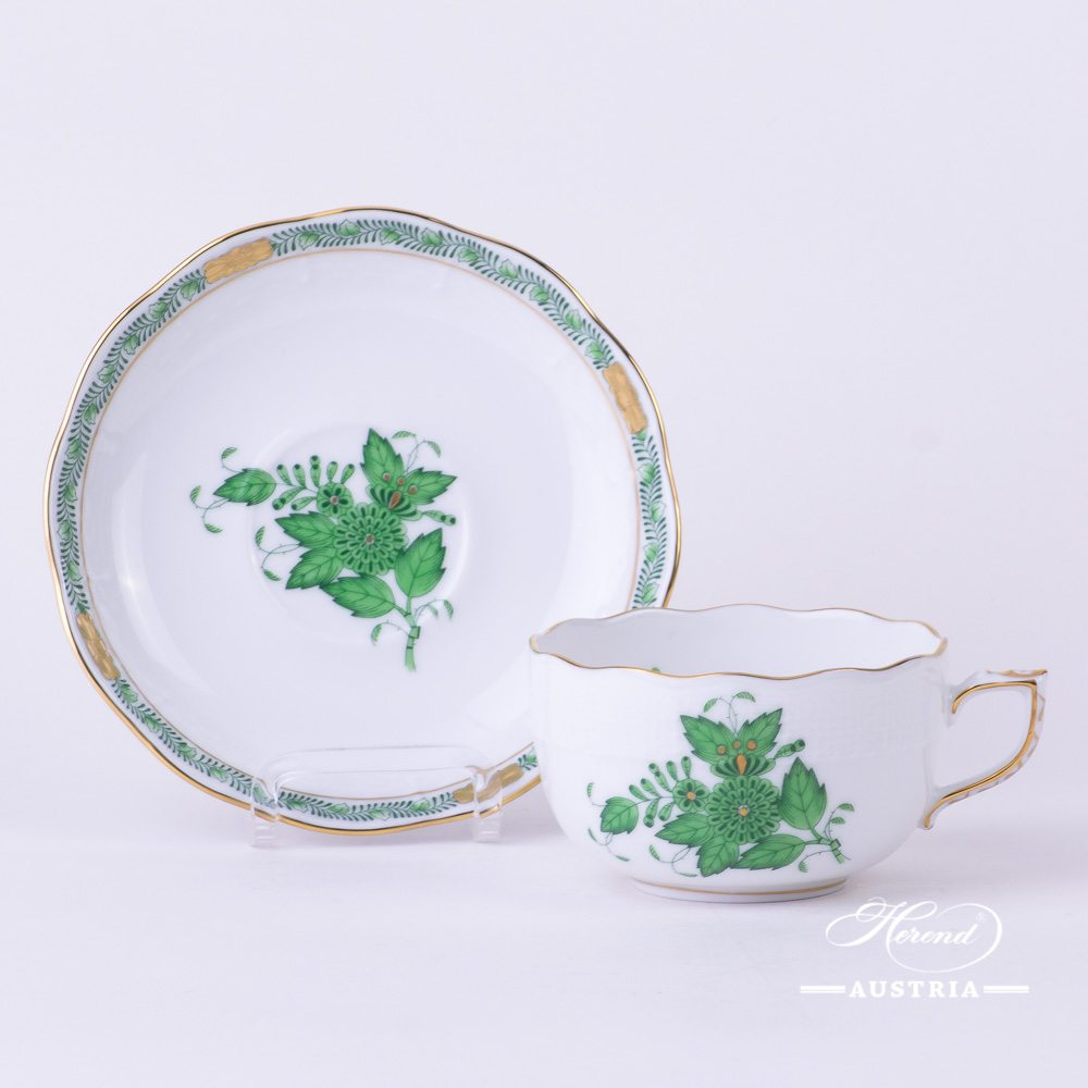 Apponyi-Green Tea Cup and Saucer - 724-0-00 AV - Herend Porcelain