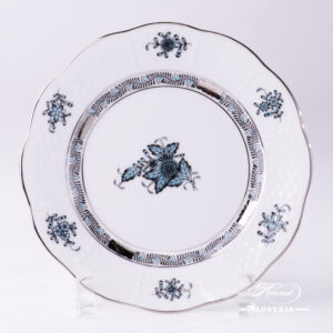 Chinese Bouquet Turquoise / Apponyi ATQ3-PT - Dessert Plate