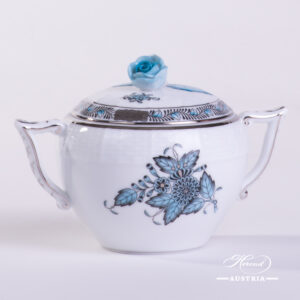Apponyi Turquoise Sugar Basin - 472-0-09 ATQ3-PT - Herend Porcelain