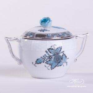 Apponyi Turquoise Sugar Basin - 472-0-09 ATQ3-PT - Herend Porcelain