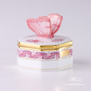 Apponyi-Pink Fancy Box - 6105-0-17 AP2  - Herend Porcelain