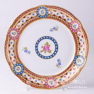 Silk Brocade Dessert Plate - 3586-0-00 EGAVT - Herend Porcelain