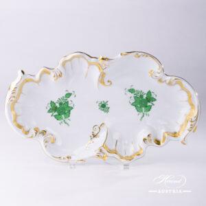 Apponyi Green Dish Rococo - 7517-0-00 AV - Herend Porcelain