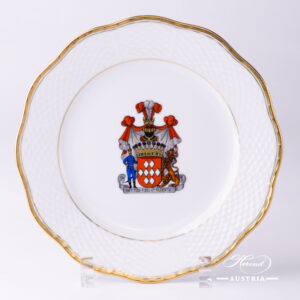 Hadik Decor with Coat of Arms - Dessert Plate - 517-0-00 HD-CIM - Herend Porcelain