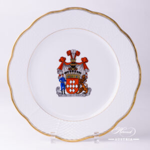 Hadik Decor with Coat of Arms - Serving Plate - 527-0-00 HD-CIM - Herend Porcelain