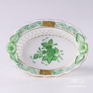 Apponyi-Green Basket - 7381-0-00 AV - Herend Porcelain