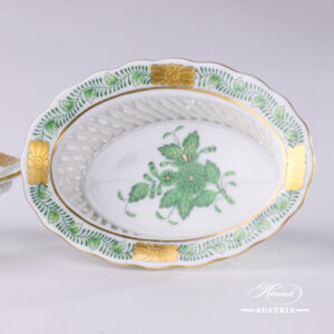 Apponyi Green Basket - 7380-0-00 AV - Herend Porcelain