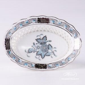 Apponyi Turquoise Basket - 7380-0-00 ATQ3-PT - Herend Porcelain