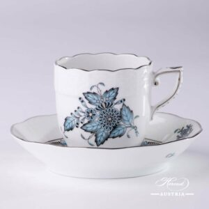 Chinese Bouquet Turquoise / Apponyi ATQ3-PT - Coffee / Espresso Cup
