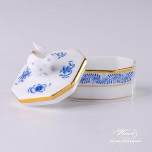 Apponyi-Blue Fancy Box - 6105-0-25 AB - Herend Porcelain