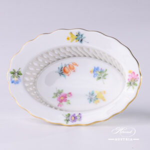 Thousand Flowers Basket - 7380-0-00 MF - Herend Porcelain