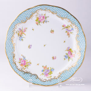Flowers with Square-Scale Dinner Plate - 524-0-00 CBTA - Herend Porcelain