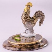 Jewelled Herend Golden rooster