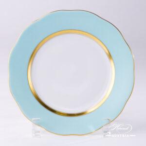 Turquoise Edge - Dessert Plate