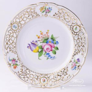 Bunch of Tulip BT Wall Plate Open Work - Herend Porcelain