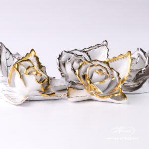 Gilded Richly - Rose on Leaf - 2 pc