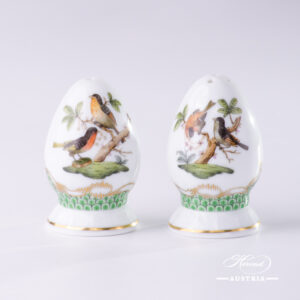 Rothschild Bird Green Fish Scale - Salt and Pepper Shaker Set