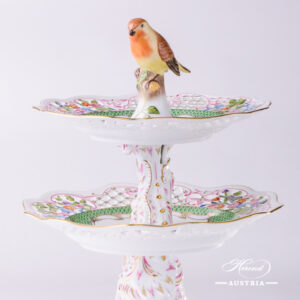 Rothschild Bird Green Fish Scale - Cake Stand