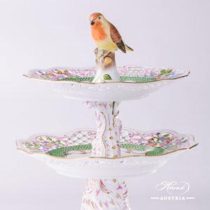 Rothschild Bird Green Fish Scale - Cake Stand
