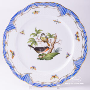 Rothschild Bird Blue Fish Scale - Dinner Plate