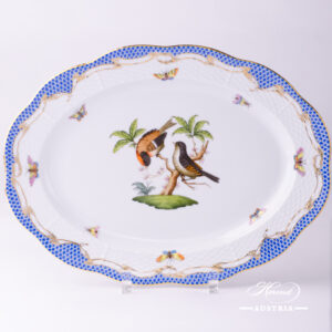 Rothschild Bird Blue Fish Scale - Oval Dish