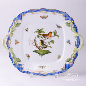 Rothschild Bird Blue Fish Scale - Cake Plate
