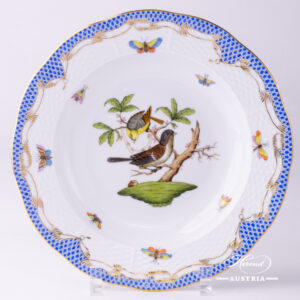 Rothschild Bird Blue Fish Scale - Soup Plate
