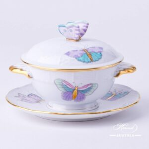 Royal Garden Turquoise - Soup Cup w. Lid