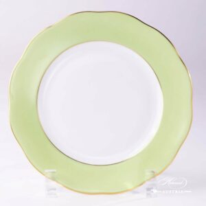 Light Green Edge - Dessert Plate