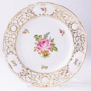 Small Bunch of Roses PBR Wall Plate Open Work - Herend Porcelain