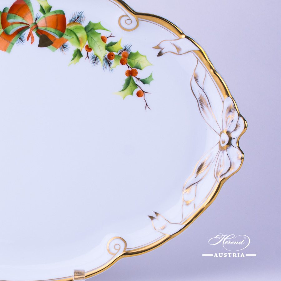 Christmas Tray with Ribbon - 20400-0-00 NOEL - Herend Porcelain