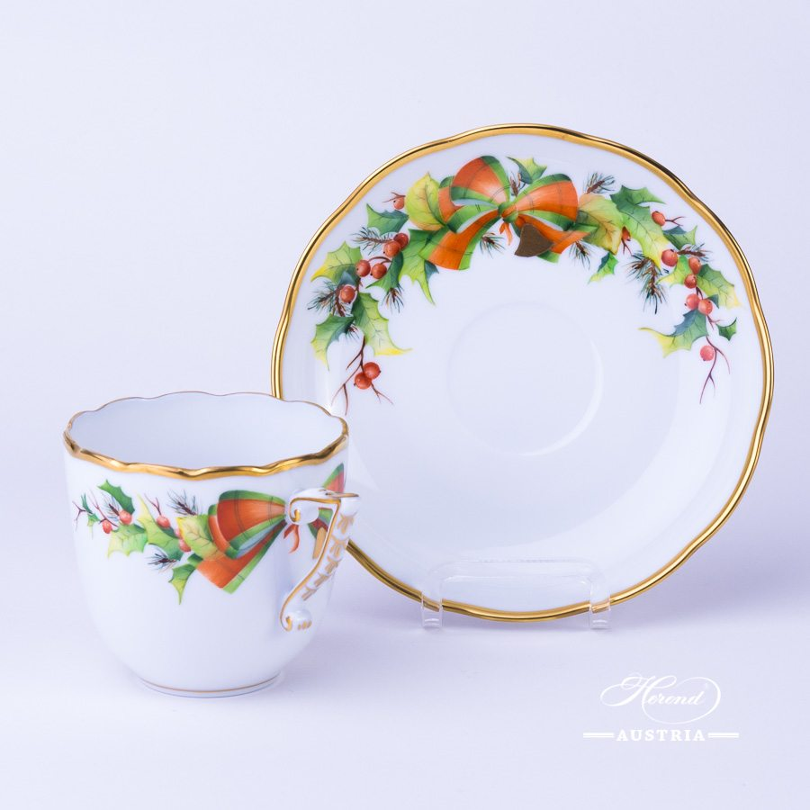 Christmas Coffee Cup and Saucer - 20706-0-00 NOEL - Herend Porcelain